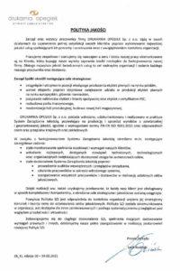 Polityka jakości OPEGIEK 2021